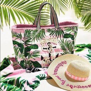 VS Tropical Palm Tree Nautical Canvas Tote Bag